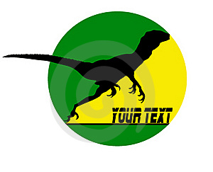 Running Dino Logo Stock Image - Image: 21445571