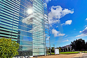 Glass Building With Sky Stock Photos - Image: 21447163