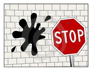 Hitting A Brick Wall Stock Image - Image: 21455211