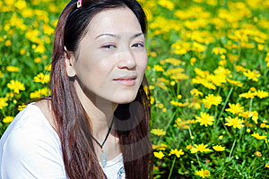 Portrait Of The East Asian Woman Royalty Free Stock Photography - Image: 21461437