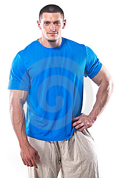 Strong Athletic Man Royalty Free Stock Photo - Image: 21465885