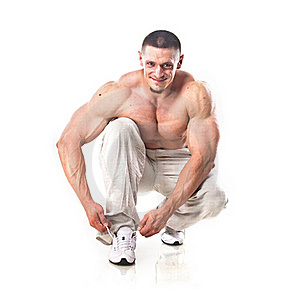 Strong Athletic Man Stock Images - Image: 21465914