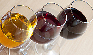 Three Colors Of Wine Royalty Free Stock Photo - Image: 21468365