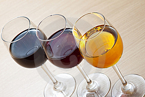 Three Colors Of Wine Royalty Free Stock Image - Image: 21468376