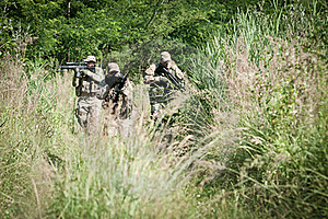 Rebel Soldiers On Patrol Stock Photography - Image: 21469902