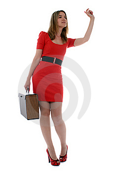 Business Woman Waving To A Co-worker Royalty Free Stock Image - Image: 21470776