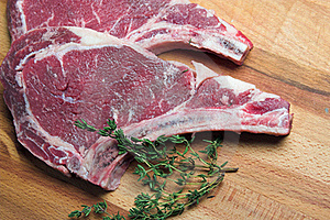Two Raw Steaks Royalty Free Stock Image - Image: 21470816