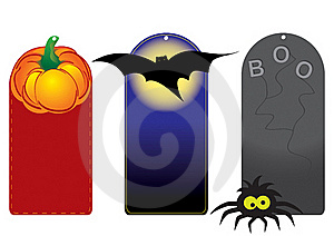 Set Of Funny Halloween Tags Stock Photos - Image: 21473023