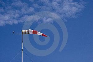Windsock On A Blue Sky Background Stock Photo - Image: 21473420