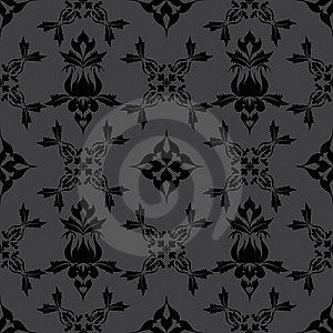 Damask Wallpaper Pattern Royalty Free Stock Image - Image: 21474506