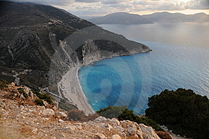 Myrtos Bay Royalty Free Stock Images - Image: 21474739