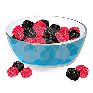 Wild Berries In Bowl Stock Images - Image: 21477314