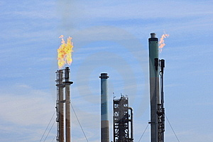 Flames Out Of Chimneys Royalty Free Stock Images - Image: 21478279