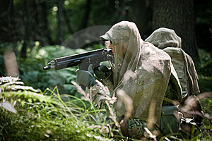 Special Forces Defending Their Ground Stock Photo - Image: 21480290
