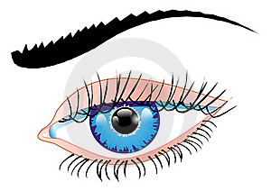 Blue Eye Of A Woman Royalty Free Stock Images - Image: 21480659