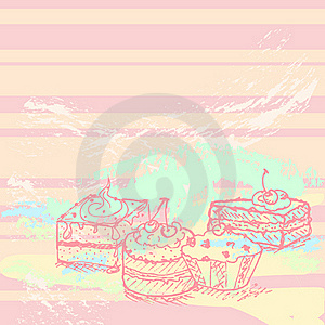 Tasty Cakes Background Royalty Free Stock Photography - Image: 21489267
