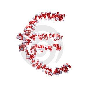 Euro Symbol Made Of Pills Royalty Free Stock Photo - Image: 21494215