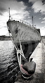 Old Military Ship Royalty Free Stock Photos - Image: 21494668
