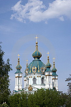 St. Andrew's Church In Kyev Stock Photography - Image: 21496262
