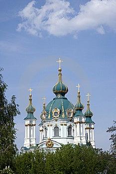 St För Andrew Kyrklig Kyev S Arkivbild - Bild: 21496262