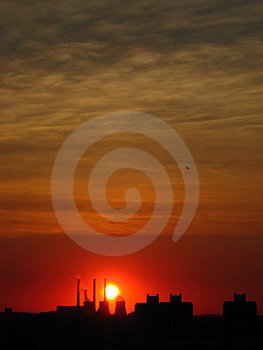 Red sky Stock Photo