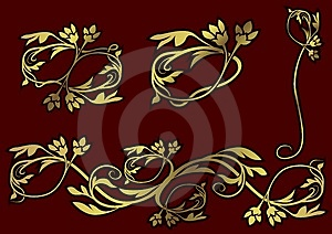 Floral Decoration 09 Royalty Free Stock Image - Image: 2150416