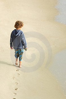 Boy At The Beach Stock Image - Image: 2151741
