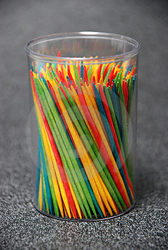 Colorful Toothpicks Stock Image - Image: 2153451