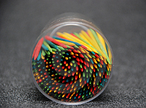 Colorful Toothpicks Downside Royalty Free Stock Photos - Image: 2153478