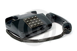Telephone Set Of Black Color Royalty Free Stock Images - Image: 2153479