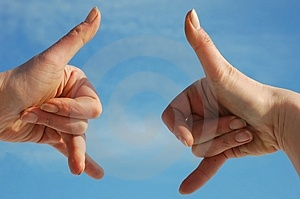 Symbol And Hands Stock Image - Image: 2153681
