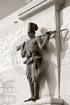 World War Monument Soldier Royalty Free Stock Photo - Image: 2153775