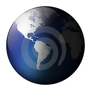 Globe view Royalty Free Stock Photography