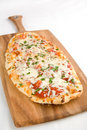 Rustic Pizza Royalty Free Stock Photography