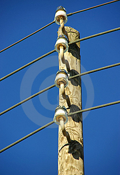 Electricity Pole Royalty Free Stock Image - Image: 21500826