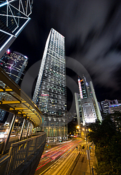 Commercial Skyscraper At Night Stock Images - Image: 21504494