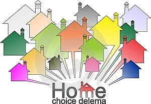Dilema Housing Selection Stock Photography - Image: 21509162