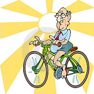 Man On A Bicycle Royalty Free Stock Image - Image: 21512946