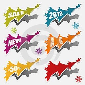 Christmas Sticker Stock Image - Image: 21516911