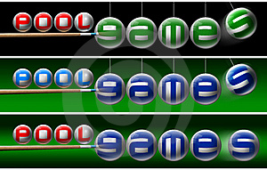 Pool Games Banners Stock Image - Image: 21516931