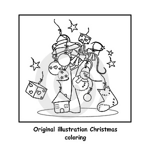 Christmas Coloring Royalty Free Stock Image - Image: 21517066