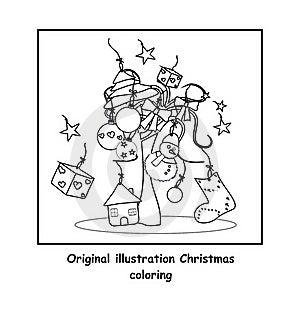圣诞节着色 免版税库存图片 - 图片: 21517066