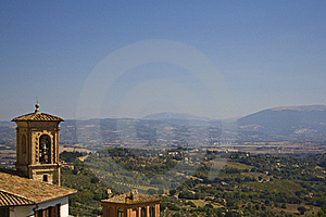 Bell, Hills And Countryside Perugia Stock Photos - Image: 21520263