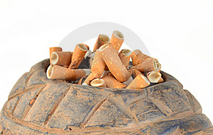 Cigarette Butts Royalty Free Stock Photos - Image: 21521198