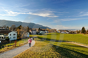 Walking In The Hills Stock Images - Image: 21526794