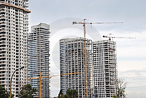 Building Cranes Royalty Free Stock Photography - Image: 21528737