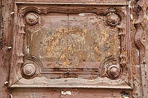 Ancient Wooden Door Fragment. Royalty Free Stock Image - Image: 21530536