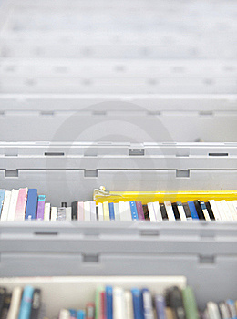 Books In Boxes Stock Images - Image: 21534434