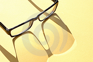 Spectacles With Shadow Royalty Free Stock Photography - Image: 21534737