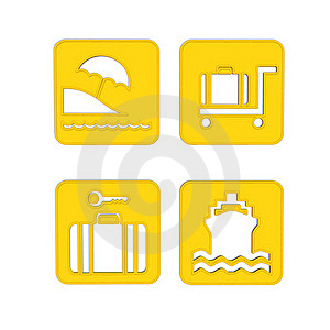 Transport And Travel Icons Stock Image - Image: 21536731